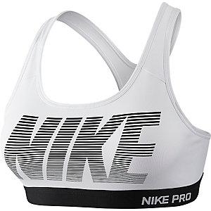 Nike Pro Classic Pad GRX Sport-BH Damen weiß/schwarz