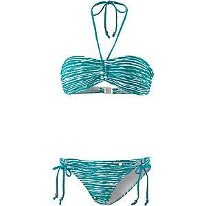 maui wowie the big blue bandeau bikini damen jadegr n wei im online shop von sportscheck kaufen. Black Bedroom Furniture Sets. Home Design Ideas