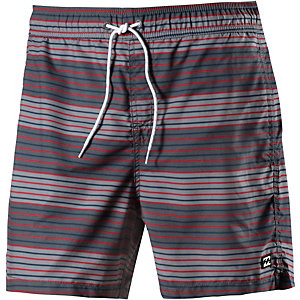 Billabong All Day Geo Layback Badeshorts Herren dunkelgrau/rot