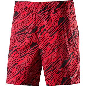 Nike Distance Elevate Laufshorts Herren rot/schwarz