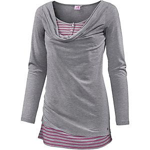 Maui Wowie Langarmshirt Damen grau/pink