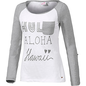 Maui Wowie Langarmshirt Damen weiß/grau