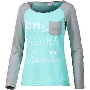 Maui Wowie Langarmshirt Damen türkis/grau