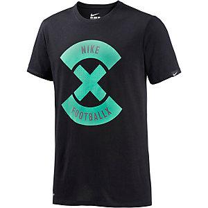 Nike X T-Shirt Herren schwarz/mint