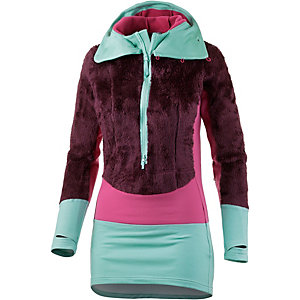Haglöfs Epic Fleecehoodie Damen bordeaux/himbeer/mint