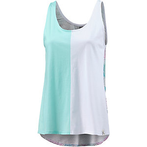 Cleptomanicx Memphis Longtop Damen weiß/mint/allover