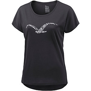 Cleptomanicx Möwe Namaste Printshirt Damen schwarz