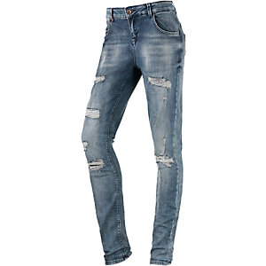 Only Lucca Boyfriend Jeans Damen destroyed denim