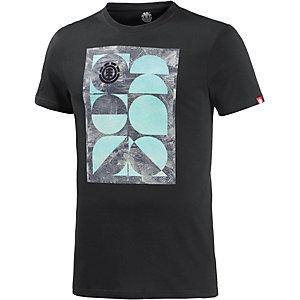 Element Vintage Palm Printshirt Herren schwarz