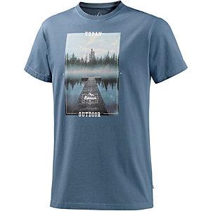 Alprausch Schwiizer Weiher Printshirt Herren navy