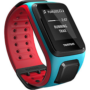 TomTom Runner 2 Cardio+Music Sportuhr blau/rot