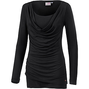 Maui Wowie 2-in-1 Langarmshirt Damen schwarz