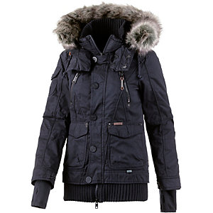 khujo ulrika winterjacke damen marine im online shop von sportscheck kaufen. Black Bedroom Furniture Sets. Home Design Ideas