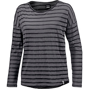 Cleptomanicx Summa Langarmshirt Damen grau/schwarz