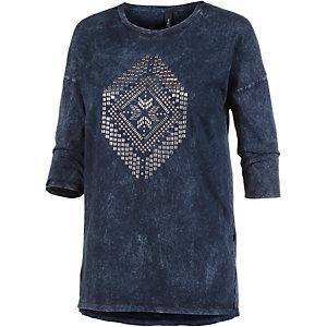 S.OLIVER Printlangarmshirt Damen dunkelblau