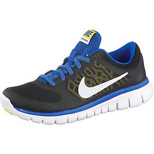 Nike Flex 2015 RN Laufschuhe Jungen schwarz/blau