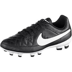 Nike Tiempo Genio Leather FG Jr. Fußballschuhe Kinder schwarz/weiß
