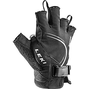 LEKI Nordic Lite Shark Short Nordic Walking Handschuhe schwarz/weiß