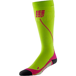 CEP Run Socks 2.2 Kompressionsstrümpfe Damen lime/pink