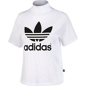 adidas Printshirt Damen weiß/schwarz