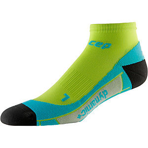 CEP Low Cut Socks Laufsocken Herren lime/türkis