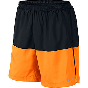 Nike Distance Laufshorts Herren schwarz/orange