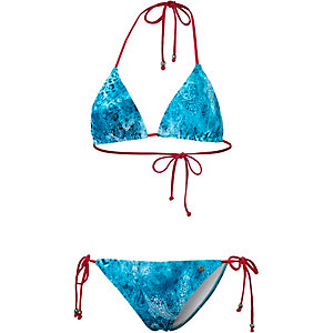 Maui Wowie Ethno Vibes Triangelbikini Damen blau