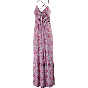 Maui Wowie Maxikleid Damen Pink/grau