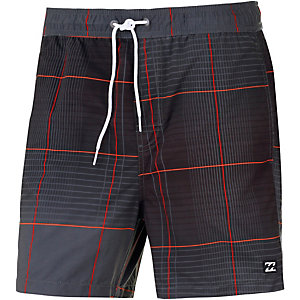 Billabong All Day Geo Layback Badeshorts Herren schwarz/orange