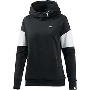 puma hoodie damen schwarz wei im online shop von. Black Bedroom Furniture Sets. Home Design Ideas