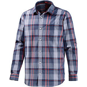S.OLIVER Langarmhemd Herren blau/rot