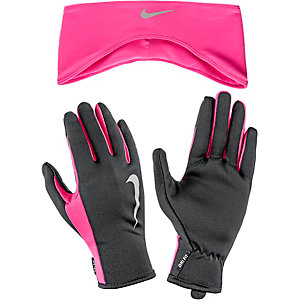 nike set aus m tze schal und handschuhe damen pink schwarz im online. Black Bedroom Furniture Sets. Home Design Ideas