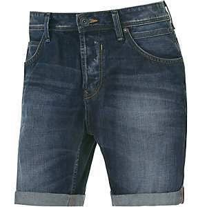 TOM TAILOR Atwood Jeansshorts Herren dark denim