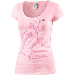 E9 Solid F T-Shirt Damen rosa