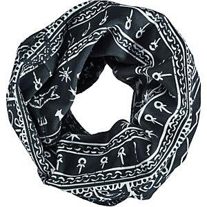 H.A.D. Printed Fleece Loop schwarz/weiß