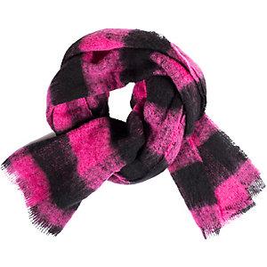 Maison Scotch Strickschal Damen pink/schwarz