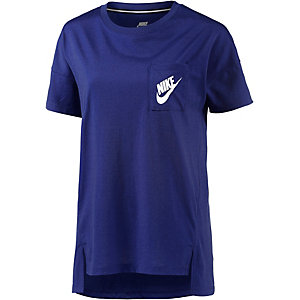 Nike T-Shirt Damen royal
