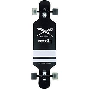 iriedaily Longboard-Komplettset schwarz/weiß