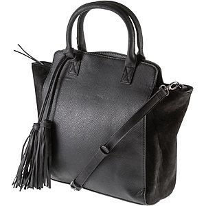 Pieces Handtasche Damen schwarz