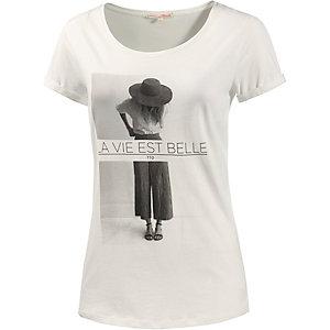 TOM TAILOR Printshirt Damen weiß