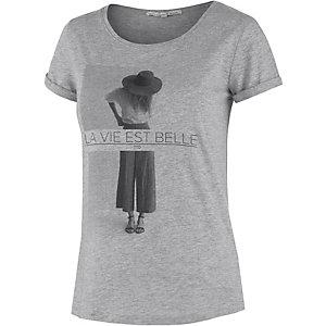 TOM TAILOR Printshirt Damen graumelange