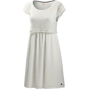 TOM TAILOR Kurzarmkleid Damen ecru