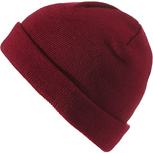 MasterDis Short Cuff Knit Beanie maroon