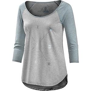 Herrlicher Printlangarmshirt Damen blau/grau