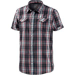 GARCIA Kurzarmhemd Herren rot/grau/weiß