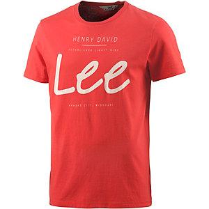 Lee Printshirt Herren rot