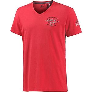 S.OLIVER V-Shirt Herren rot