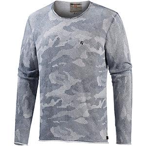 GARCIA Strickpullover Herren grau/camouflage