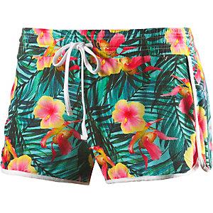 GUESS Hot Pants Damen grün/gelb/rot
