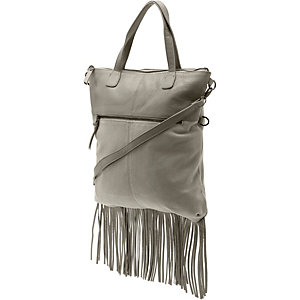 Pieces Handtasche Damen grau